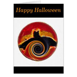 ハロウィンの抽象芸術のこうもりの芸術 カード
