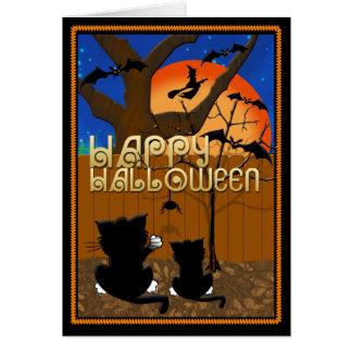 ハロウィンの挨拶状 カード