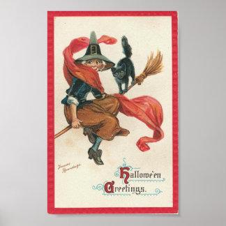 ハロウィンの挨拶 ポスター