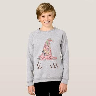 ハロウィンの文字、形の魔法使いの帽子、雲 スウェットシャツ
