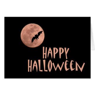 ハロウィンの月のメッセージカード カード