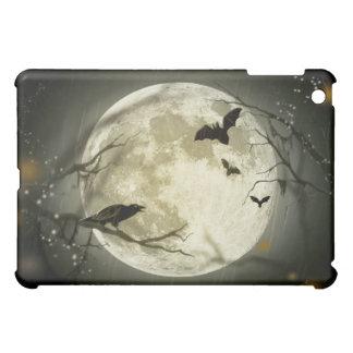 ハロウィンの月の気味悪いカラス iPad MINI カバー