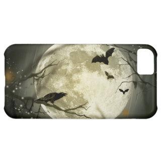 ハロウィンの月の気味悪いカラス iPhone5Cケース