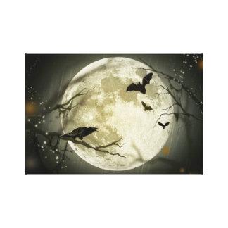 ハロウィンの月 キャンバスプリント