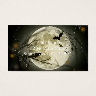 ハロウィンの月-満月のイラストレーション 名刺