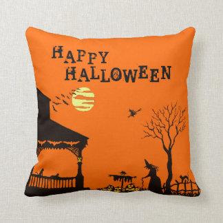 ハロウィンの枕、魔法使い、スカル、こうもり、ハロウィーンのカボチャのちょうちん クッション