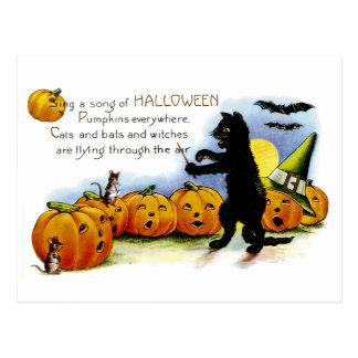 ハロウィンの歌を歌って下さい ポストカード
