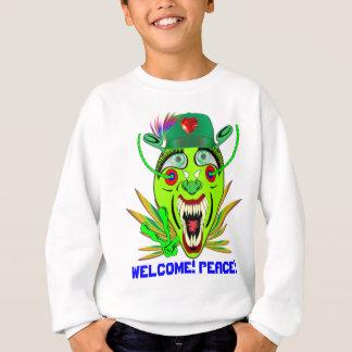 ハロウィンの歓迎! 平和! ノートを見て下さい スウェットシャツ
