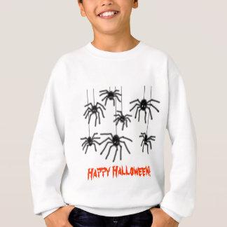 ハロウィンの毛深い漫画のくもの子供のスエットシャツ スウェットシャツ