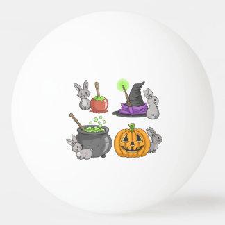 ハロウィンの気味悪いバニー 卓球ボール