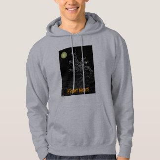 ハロウィンの気味悪い木のフード付きスウェットシャツ パーカ