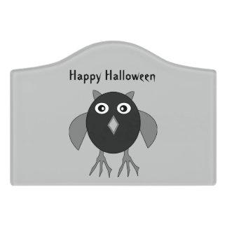 ハロウィンの気色悪いフクロウカスタムな部屋の印 ドアサイン