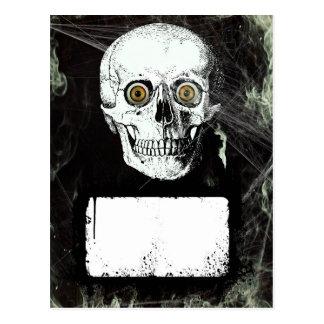 ハロウィンの海賊スカル ポストカード