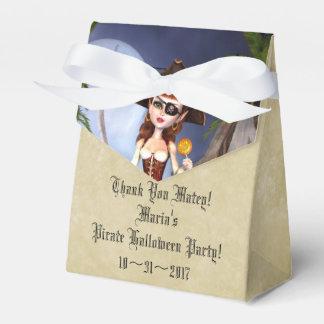 ハロウィンの海賊女の子のカスタムなテントの好意箱 フェイバーボックス