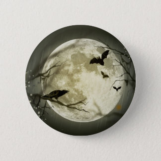 ハロウィンの満月ボタン 缶バッジ