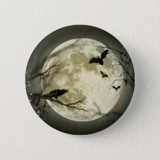 ハロウィンの満月ボタン 5.7CM 丸型バッジ