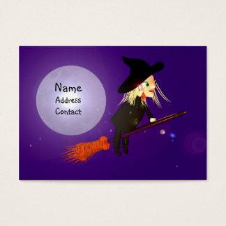 ハロウィンの無線魔法使い-ぽっちゃりしたサイズ 名刺