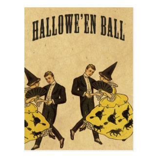 ハロウィンの球のダンサー ポストカード