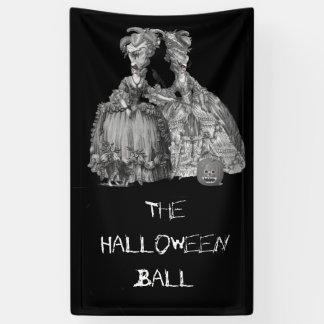 ハロウィンの球(黒で) 横断幕