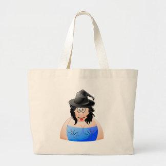 ハロウィンの生意気な魔法使い ラージトートバッグ