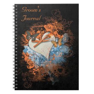 ハロウィンの異教のな新郎のジャーナルの蝶 ノートブック