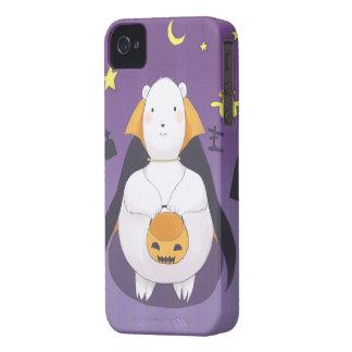 ハロウィンの白くまおよび鳥のIPhoneの場合 Case-Mate iPhone 4 ケース