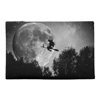 ハロウィンの白黒魔法使い トラベルアクセサリーバッグ