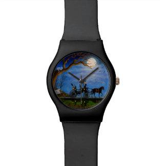 ハロウィンの結婚式、腕時計、ハロウィンの新婚旅行、魔法使い 腕時計
