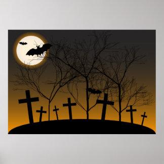 ハロウィンの背景 ポスター