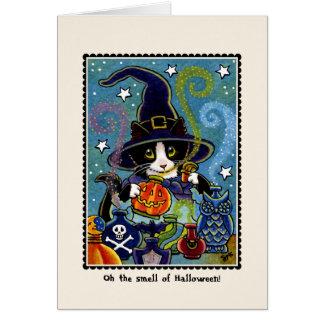 ハロウィンの臭い! 子猫猫カード カード