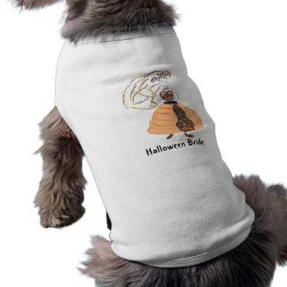 ハロウィンの花嫁か結婚式 犬用袖なしタンクトップ