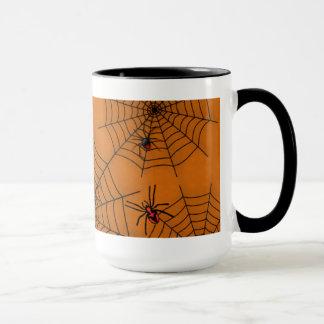 ハロウィンの蜘蛛の巣のマグ マグカップ