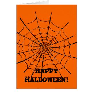 ハロウィンの蜘蛛の巣 カード