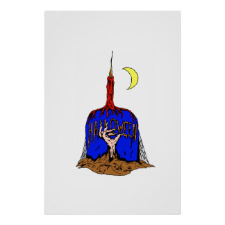 ハロウィンの蝋燭 ポスター