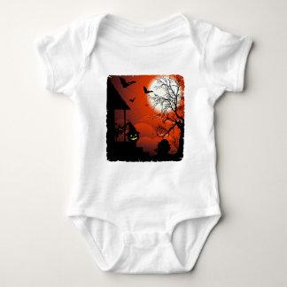 ハロウィンの血の月光の悪夢 ベビーボディスーツ