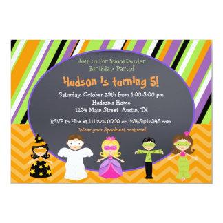 ハロウィンの衣裳のパーティの招待状 カード