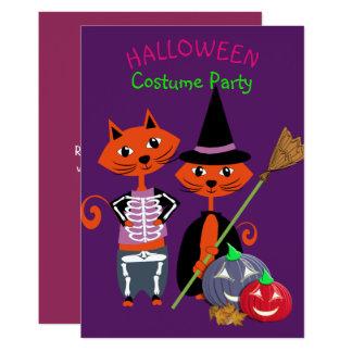 ハロウィンの衣裳のパーティーの編集可能かわいいおもしろい カード