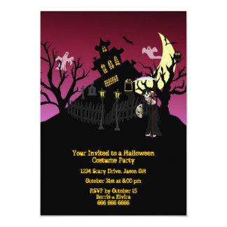 ハロウィンの衣裳のパーティー カード