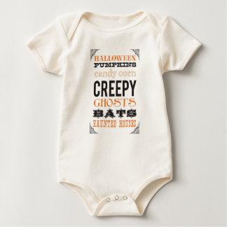ハロウィンの衣裳の乳児のティー ベビーボディスーツ