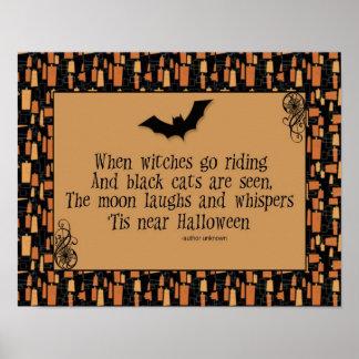 ハロウィンの詩ポスター ポスター