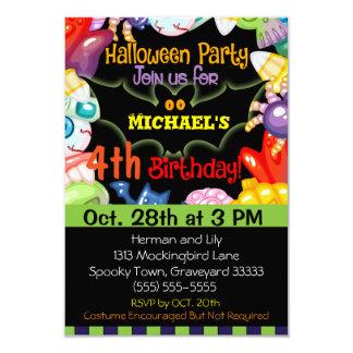 ハロウィンの誕生日のパーティの招待状 カード