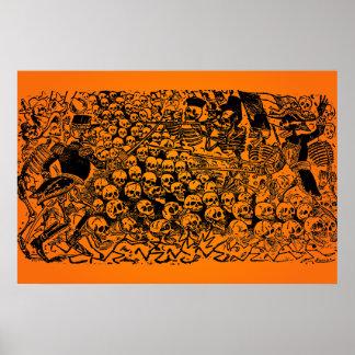 ハロウィンの販売! J.ポザーダ著La Calavera Revuelta ポスター