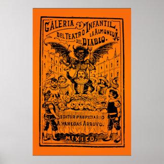 ハロウィンの販売! La Almoned del Diablo (ポザーダ) ポスター