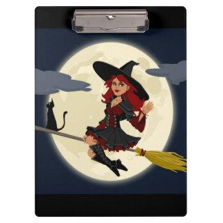 ハロウィンの赤毛の魔法使い クリップボード