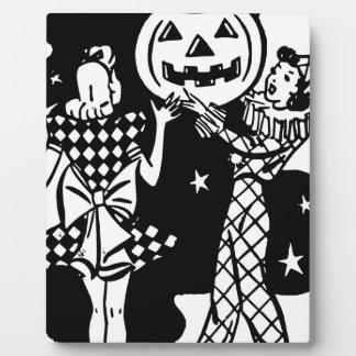 ハロウィンの踊りの女性 フォトプラーク