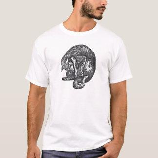 ハロウィンの間素晴らしい黒猫の舐めること Tシャツ