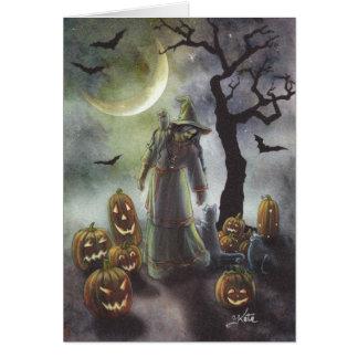 ハロウィンの霧深い歩行 カード