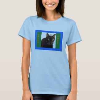 ハロウィンの青いトリック・オア・トリート Tシャツ