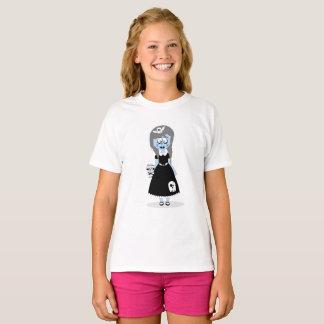 ハロウィンの青い悪鬼の女の子のTシャツ Tシャツ