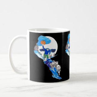 ハロウィンの頭のない犬Musher コーヒーマグカップ